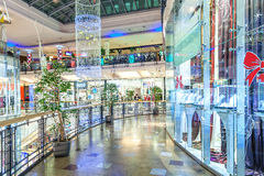 Opinión interior del centro comercial de Palladium en Praga Fotografía de archivo libre de regalías