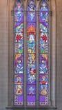 Opinión interior del detalle de la iglesia gótica nea fotografía de archivo libre de regalías