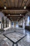 Opinión interior del edificio veneciano de la logia Es el edificio que contiene el ayuntamiento de la ciudad de Heraklion hoy foto de archivo