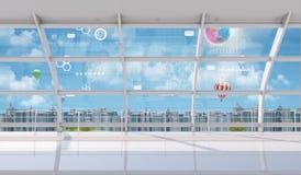 Opinión interior del paisaje urbano stock de ilustración