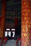 Opinión interior el Pasillo del rezo para las buenas cosechas en el Templo del Cielo Imágenes de archivo libres de regalías