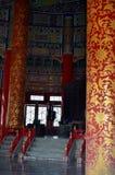 Opinión interior el Pasillo del rezo para las buenas cosechas en el Templo del Cielo Imagen de archivo libre de regalías