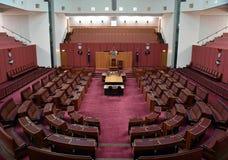 Opinión interior el senado australiano en la casa del parlamento, Canberra foto de archivo libre de regalías