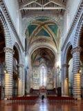 Opinión interna de la bóveda de Orvieto Fotos de archivo libres de regalías