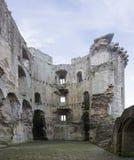 Opinión interna del castillo de Nunney Foto de archivo libre de regalías