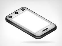 Opinión isométrica aislada del teléfono elegante del cromo Fotografía de archivo