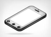 Opinión isométrica del teléfono elegante de Chrome Fotografía de archivo