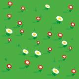 Opinión isométrica simple inconsútil de los modelos de flores Fotografía de archivo libre de regalías