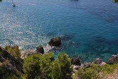 Opinión Italia del mar de Capri Fotos de archivo