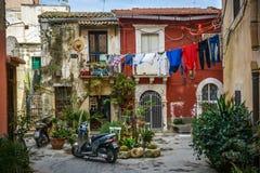 Opinión italiana típica de la calle Fotos de archivo libres de regalías
