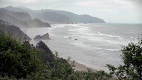 Opinión 4K de la costa de Oregon UHD almacen de metraje de vídeo