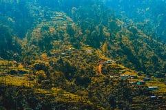 Opinión Kashmir Valley Himalayan, Himalaya, la India, Asia del paisaje del panorama imagenes de archivo