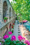 Opinión Koza Han (bazar de seda) en Bursa, Turquía fotografía de archivo libre de regalías