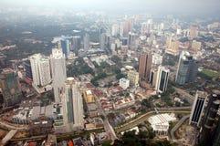 Opinión Kuala Lumpur, Malasia de la tarde imagen de archivo
