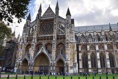 Opinión lateral Londres de la abadía de Westminster Foto de archivo libre de regalías