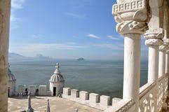 Opinión Lisboa de la torre de Belem fotos de archivo libres de regalías