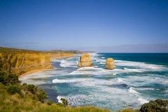 Opinión los 12 apóstoles en el gran camino del océano, Melbo Fotografía de archivo libre de regalías