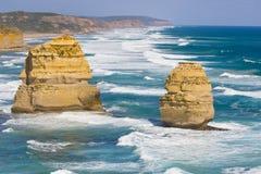 Opinión los 12 apóstoles en el gran camino del océano, Melbo Imagen de archivo