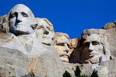 Opinión magnífica conmemorativa nacional del monte Rushmore Rushmore imagen de archivo libre de regalías