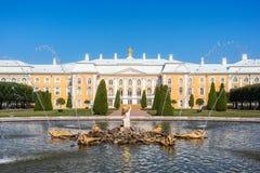 Opinión magnífica del palacio de la charca del roble Imagen de archivo