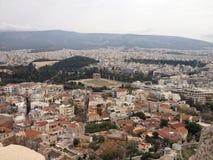 Opinión maravillosa sobre la ciudad de Atenas Fotografía de archivo