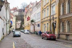 Opinión Margaret Tower gorda en Tallinn Foto de archivo
