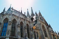 Opinión a Matthias Church en el distrito del castillo Imagen de archivo libre de regalías