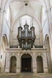 Opinión medieval de la catedral dentro Fotos de archivo