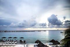 Opinión mexicana del mar del golfo Imagenes de archivo