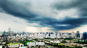 Opinión moderna de la ciudad de Bangkok imagen de archivo libre de regalías