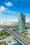 Opinión moderna de la ciudad de Bangkok, Tailandia. Paisaje urbano. Imagenes de archivo
