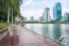 Opinión moderna de la ciudad de Bangkok, Tailandia Paisaje urbano Foto de archivo