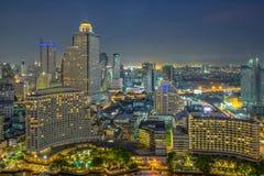 Opinión moderna de la ciudad de Bangkok, Tailandia Paisaje urbano Fotografía de archivo libre de regalías