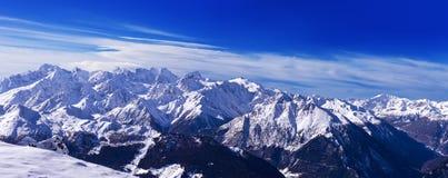 Opinión Mont Blanc de Verbier Fotografía de archivo libre de regalías