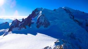 Opinión Mont Blanc, Francia Fotos de archivo