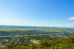 Opinión Mont Saint Hilaire imagenes de archivo