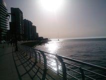 Opinión negra del día soleado Fotos de archivo