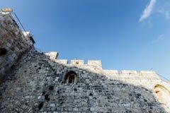 Opinión occidental de la pared de Jerusalén, mezquita del al-Aqsa Imagen de archivo libre de regalías