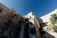 Opinión occidental de la pared de Jerusalén, mezquita del al-Aqsa Fotos de archivo libres de regalías