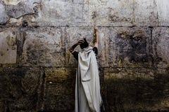 Opinión occidental de la pared de Jerusalén, mezquita del al-Aqsa Fotos de archivo