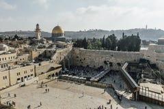 Opinión occidental de la pared de Jerusalén, mezquita del al-Aqsa Fotografía de archivo libre de regalías