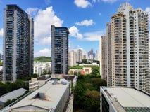 Opinión OCT, Shenzhen, China del 15ª planta fotografía de archivo