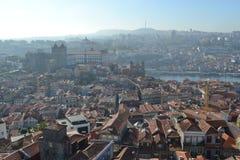 Opinión Oporto de la ciudad, Portugal Foto de archivo libre de regalías