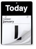Opinión orthográfica del calendario del día Fotos de archivo