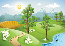 Opinión pacífica del paisaje Imagen de archivo libre de regalías