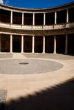 Opinión Palacio de Carlos V en Alhambra Fotografía de archivo