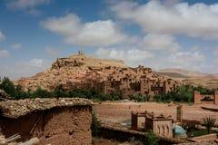 Opinión panorámica Ait Benhaddou, Marruecos Imágenes de archivo libres de regalías