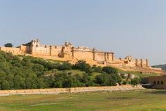 Opinión panorámica Amber City en Jaipur imagen de archivo libre de regalías