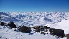 Opinión panorámica de Alpes Imágenes de archivo libres de regalías
