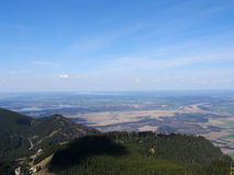 Opinión panorámica de Alpes Imagenes de archivo